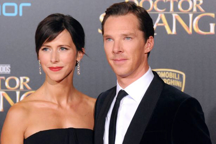英國演員 Benedict Cumberbatch 和太太 Sophie Hunter,結婚 3 年。