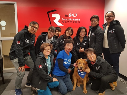 Clifford, pet ambassador from PALS, visited Fairchild Radio Calgary and has won over many human fans.