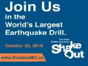 BC ShakeOut 10 月 20 日全省地震演習 Are You Ready?